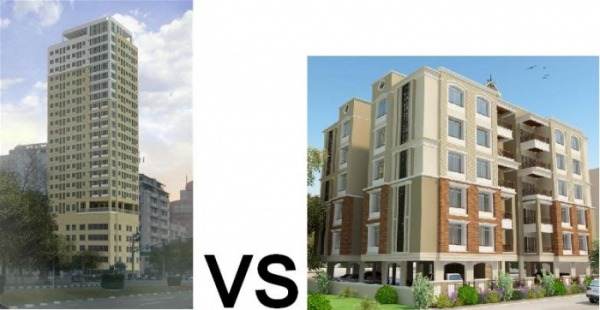 Image result for high vs low rise condo